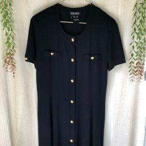 ESCADA Margaretha Ley New Wool Long Black Dress